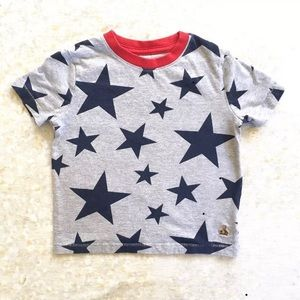 baby Gap Stars T Shirt Gray Blue Red Size 3 3T